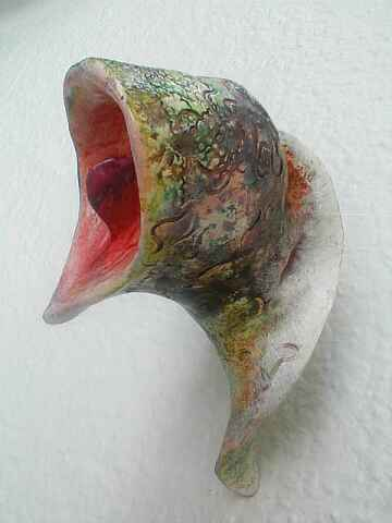 fishy sculpture with tongue