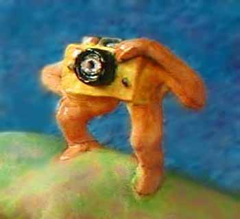 Me as a camera with legs and arms.