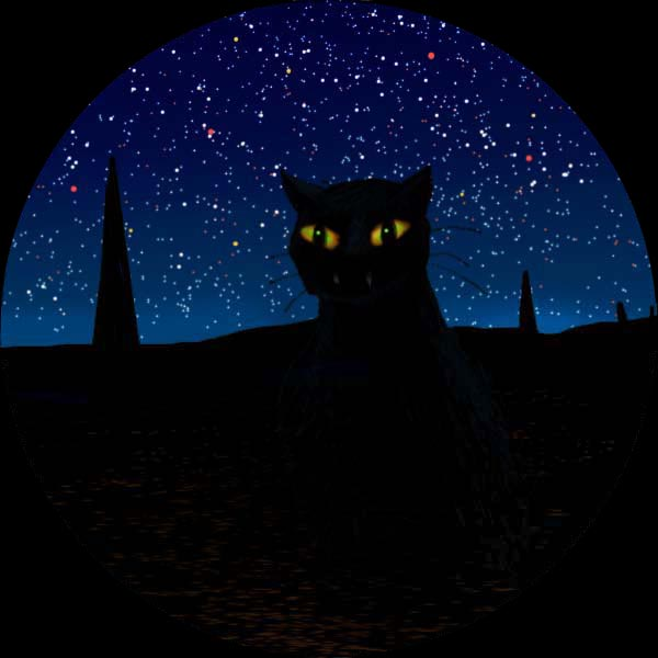 Huge black cat, nearly invisible at night: Coeurl.