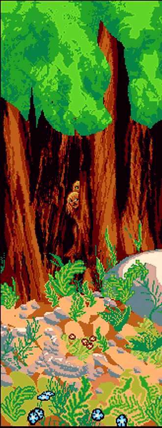 Shy blonde creatures hide in the redwoods after civilization collapses.