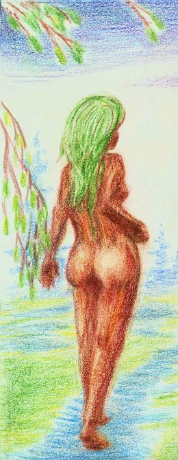 dryad on a summer path