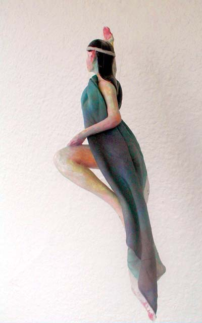 Elven-dancer from the back; a hanging sculpture