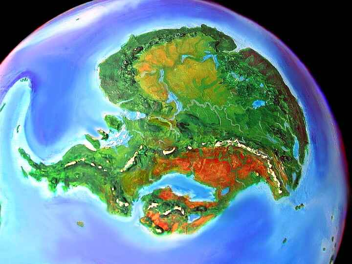 Tropica, the equatorial equivalent of our Antarctica, on an alternate Earth called Jaredia. Click to enlarge.