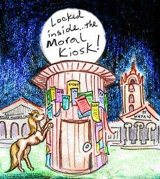 Krelkin finds her Leading Man--but he's locked inside the Moral Kiosk!