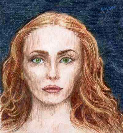 Portrait of the elf-woman who guards Meltdown Valley. Click to enlarge.