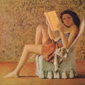 'Katia Reading', a painting by Balthus. Click to enlarge.