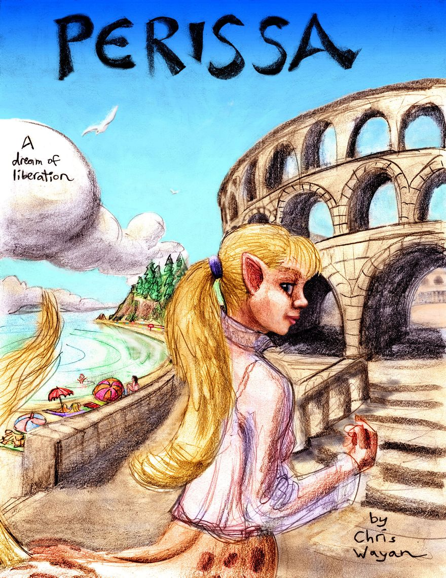 Cover of 'Perissa', a dream-comic by Wayan. Click to enlarge.