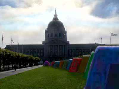 Mysterious tents in San Francisco's Civic Center