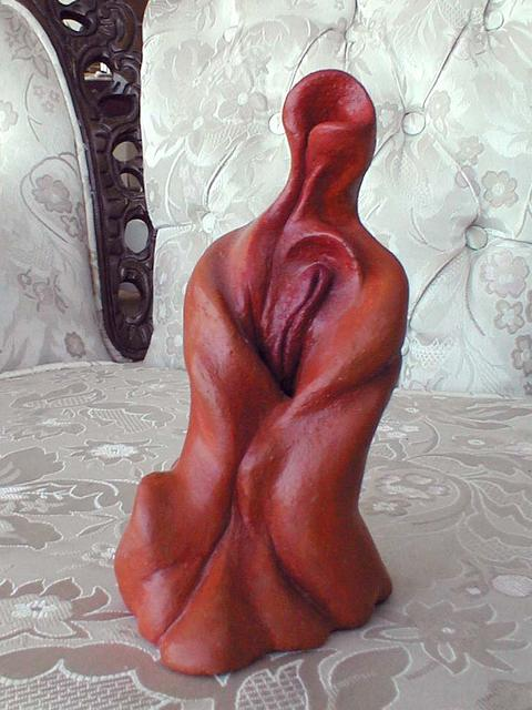 Sculpture of a sexually ambiguous flower-person