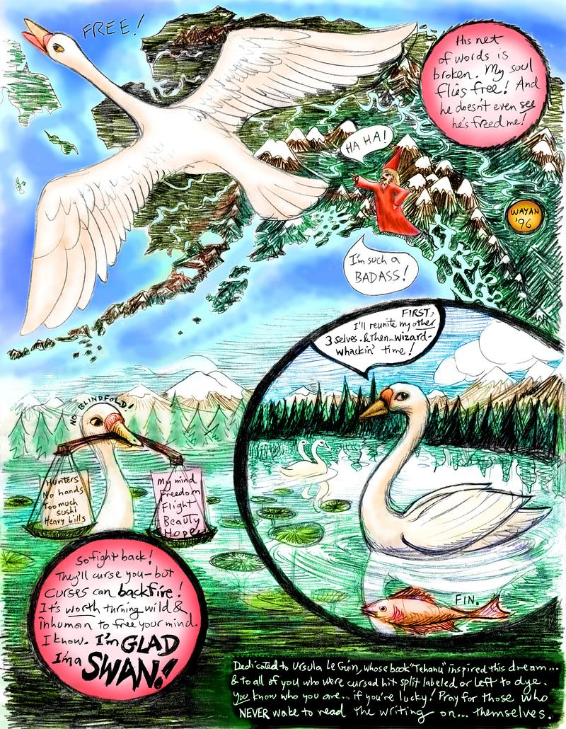 Swan, p.3; a dream-comic by Wayan.
