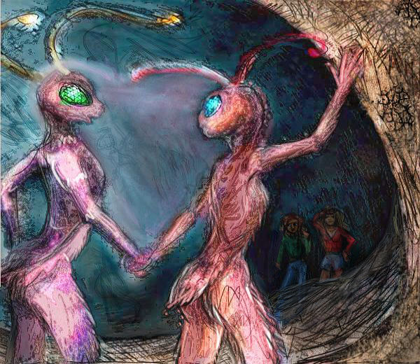 In the dream-caves, we meet two ant dancers, Cheimi and Rindei.